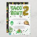 taco bout two | second birthday invitation