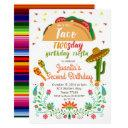 taco twosday 2nd birthday party fiesta invitations