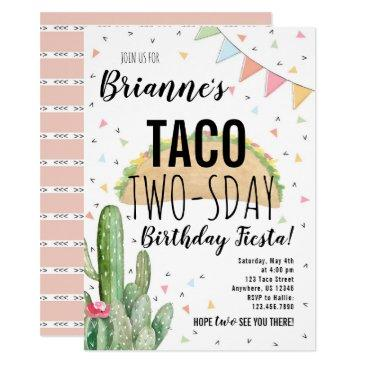 taco twosday birthday invitation for girl
