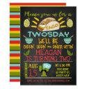 taco twosday chalkboard 2nd birthday invitation