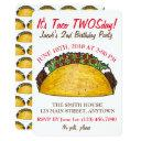 taco twosday tuesday 2nd birthday party fiesta invitations
