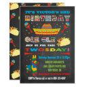 taco twosday tuesday mexican fiesta 2nd birthday invitations