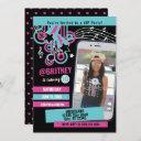 teen dance party photo birthday invitation