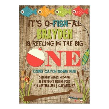 the big one fishing theme boys first birthday