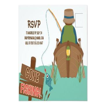 Small The Big One Fishing Theme Boys First Birthday Invitation Postinvitations Back View