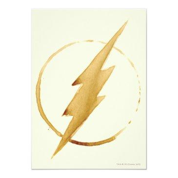 the flash | yellow chest emblem invitation