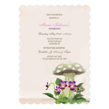 the mushroom garden invitation