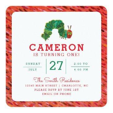 the very hungry caterpillar birthday invitations