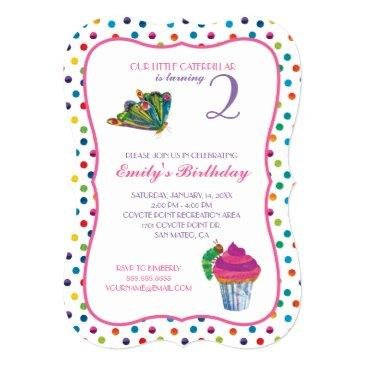 the very hungry caterpillar butterfly birthday invitation