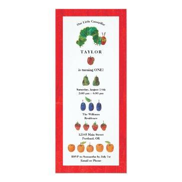 the very hungry caterpillar fruit birthday invitation
