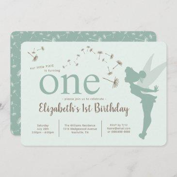 tinker bell first birthday invitation