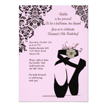 toe shoes with black lace invitations