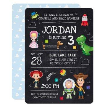 toy story chalkboard birthday invitations