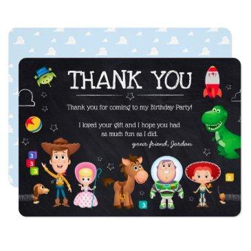 toy story chalkboard birthday | thank you invitations