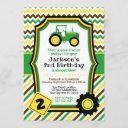 tractor birthday invitation with envelopes