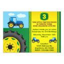 tractor birthday party invitation any age