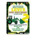 tractor theme invite