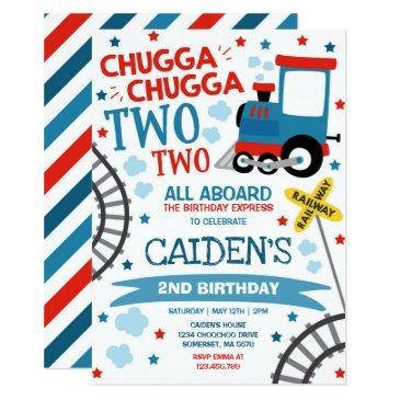 train birthday invite chugga chugga two two train