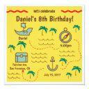treasure map birthday invitations
