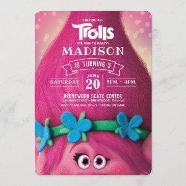 trolls poppy birthday invitation