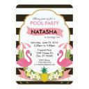 tropical flamingo party invitation ()