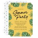 tropical leaves | summer party invitation