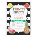 tutti frutti birthday party invitations 2nd bday