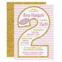 tutu 2nd birthday invitation | ballerina party