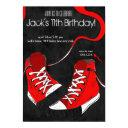 tween teenager cool sneaker birthday invitations