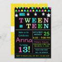 tween to teen 13th birthday invitation i teenager