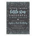 twinkle little star | first birthday invitation