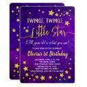 twinkle little star one 1st birthday invitation