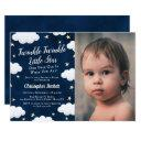 twinkle little star photo 1st birthday invitations
