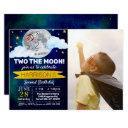 two the moon 2nd birthday photo invitation