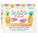 two-tii frutti girl twins birthday invitation