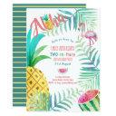 two-tti fruity 2nd birthday tropical invitations