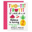 two-tti frutti 2nd birthday invitations for girl