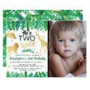 two wild boys photo second birthday invitations