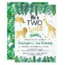 two wild boys second birthday party invitations