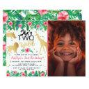 two wild girls photo second birthday invitations
