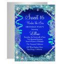 under the sea blue sweet 16 invitations