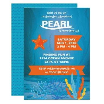 underwater adventure party invitations