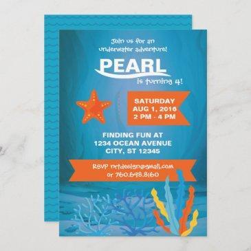underwater adventure party invitations