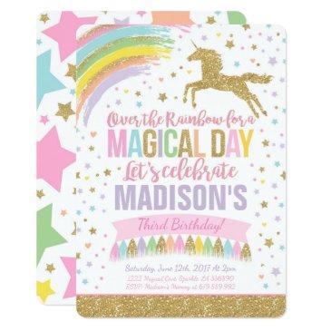unicorn birthday  pink gold unicorn