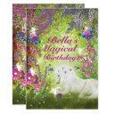 unicorn fairy woodland birthday party invitation