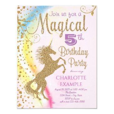 unicorn rainbow magical birthday party