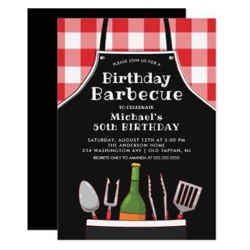 unique birthday barbecue invitation