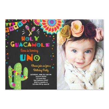 uno fiesta first birthday invitations cactus party