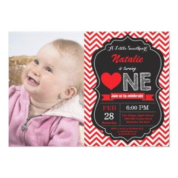 valentine birthday our little sweetheart invitation