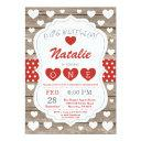 valentine little sweetheart first 1st birthday invitations